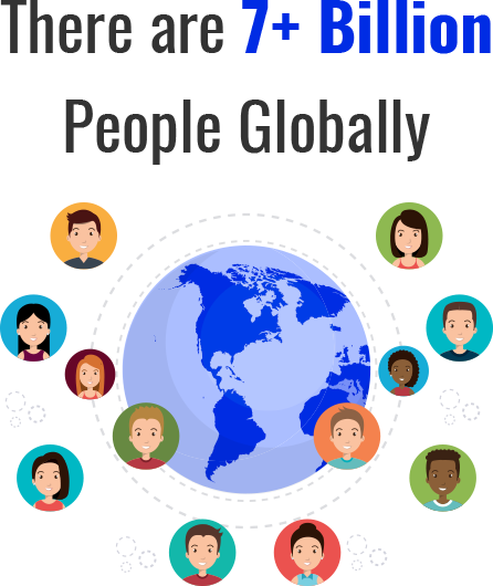 There are 7+ Billion People Globally